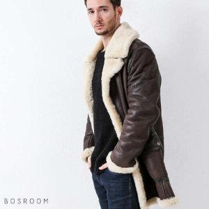 (현대Hmall) 보스룸 남자 따뜻한 양가죽 양털 가죽 선 빅 포켓 롤업 히든 단추 무스탕