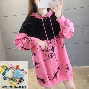 여성 후드 티 셔츠 맨투맨 루즈핏 무지 캐주얼 DI02