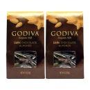 2개 GODIVA 다크 초콜릿 커버드 아몬드 견과류 57 g