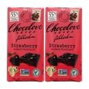 2개 CHOCOLOVE 카카오 55% 스트로베리 딸기 인 다크 초콜릿 초코바 90 g