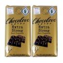 2개 CHOCOLOVE 카카오 77% 엑스트라 스트롱 다크 초콜릿 초코바 90 g