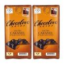 2개 CHOCOLOVE 카카오 55% 솔티드 카라멜 다크 초콜릿 초코바 90 g