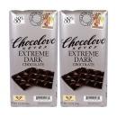 2개 CHOCOLOVE 카카오 88% 익스트림 다크 초콜릿 초코바 90 g
