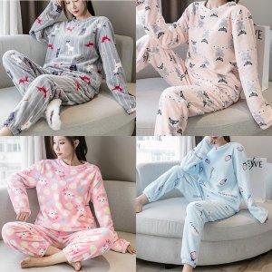 플란넬파자마 여성잠옷세트 수면잠옷 홈웨어 수면바지