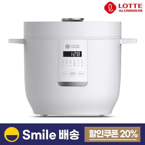롯데 5인용 미니 전기밥솥 LRC20A 화이트