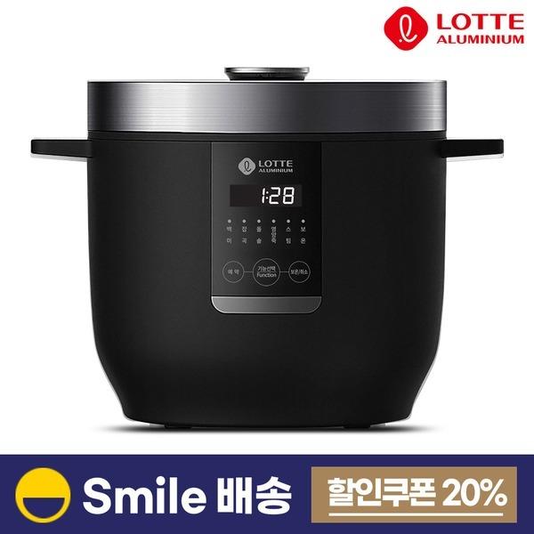 롯데 5인용 미니 전기밥솥 LRC20A 블랙