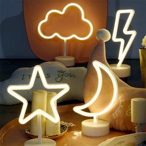 네온 무드등 / 인테리어 수유등 수면등 침실 LED 조명