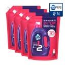 리큐 세탁세제 반만쓰는 진한겔 1.7L 4개 (일반) 박스