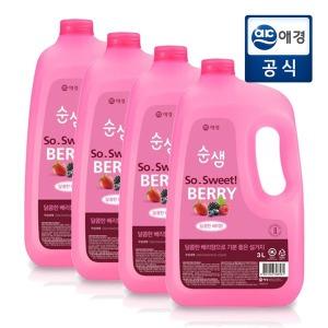 순샘 주방세제 베리 3L 4개 (용기형)