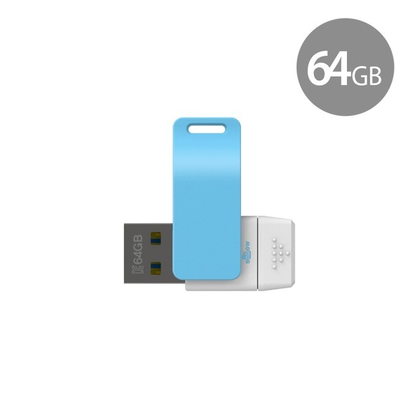 밀크 64GB OTG USB메모리 (5핀 전용) 블루