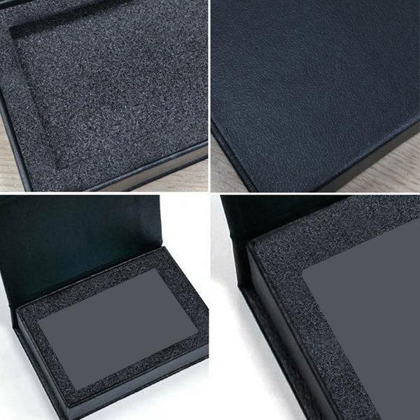 USB메모리케이스 싸바리박스 (스펀지/검정) 선물포장