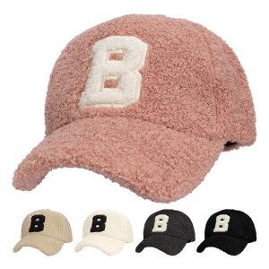 양털 B 볼캡 남녀공용 뽀글이 야구모자