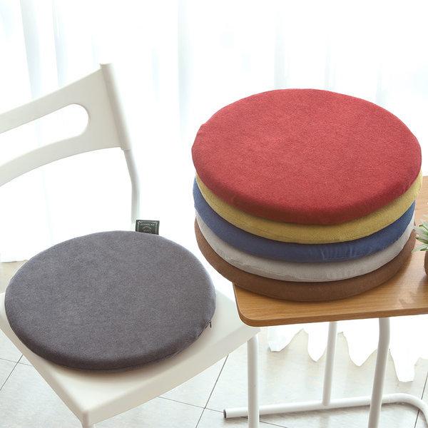 원형 메모리폼 방석 의자 벤치 식탁 얇은 패드 둥근