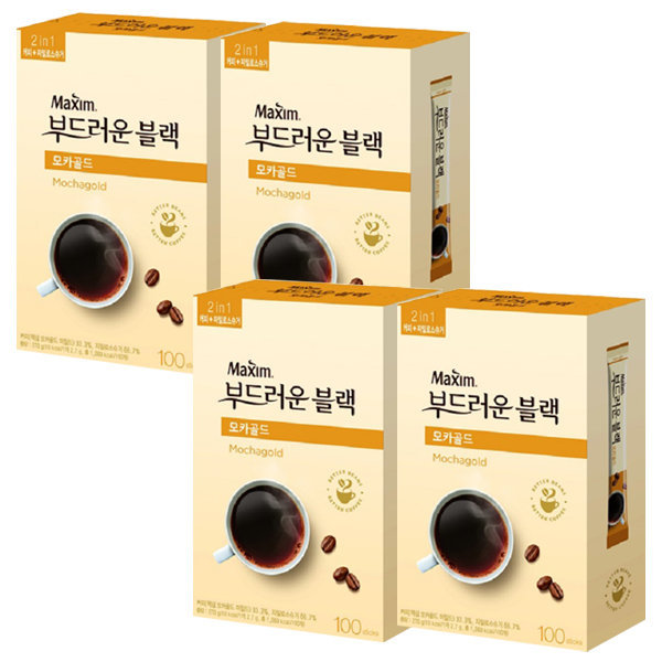 맥심 모카골드 부드러운블랙 100Tx4개