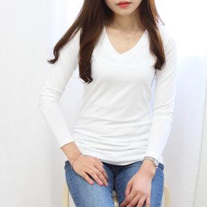 여자 V넥 웜텍/발열내의/기능성/내복/커플/기모내의