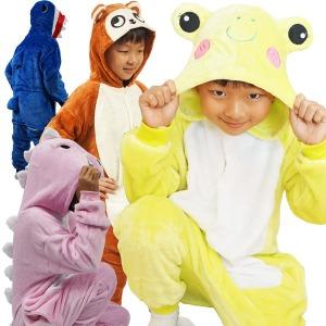 어린이동물잠옷/여아 유아 아동 겨울잠옷/캐릭터 상어