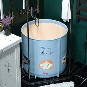 주니어 접이식 목욕통 어린이 원형욕조 핑크 B세트