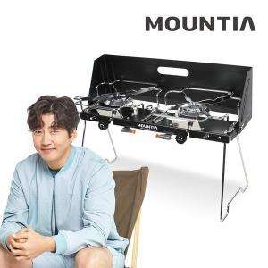 마운티아 핫 트윈버너 (블랙)/가스 스토브 투 버너