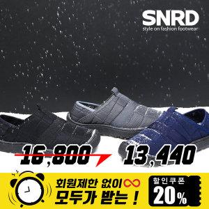 SNRD 기모 패딩 뮬 슬립온 겨울 패딩슬립온 SN565