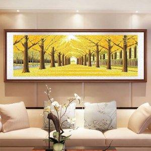 대형 황금수 금빛 보석십자수 황금 나무 DIY-120 47cm