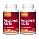 2개 Jarrow 판토텐산 비타민 B5 500 mg 100 베지 캡슐