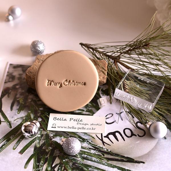 merry christmas-2 투명아크릴 비누스탬프 크리스마스