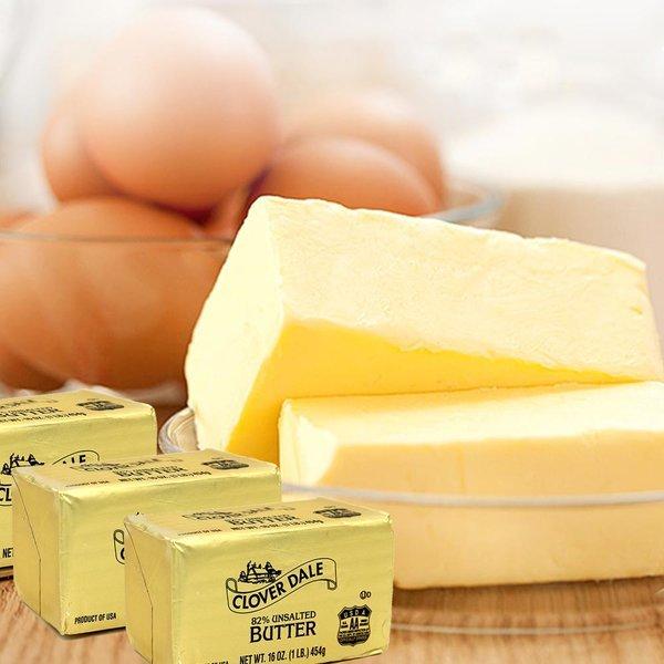 클로버데일 버터 454g X3개 /유크림100% 천연 무염버터