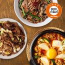 기사식당돼지불고기+우삼겹순두부+소고기버섯잡채