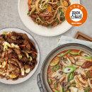 기사식당돼지불고기+차돌박이숙주볶음+버섯된장찌개