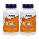 2개 Now Foods 비오틴 Biotin 10 mg 120 베지 캡슐