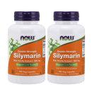 2개 Now Foods 실리마린 300 mg 더블 스트렝스 100 베지캡슐