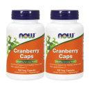 2개 Now Foods 크랜베리 Cranberry 크렌베리 농축 비타민 C 100 베지캡슐