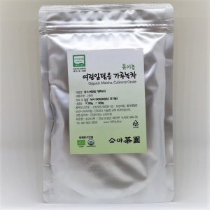 유기농 여린잎 덖음 가루녹차 녹차가루 200g(국내산)