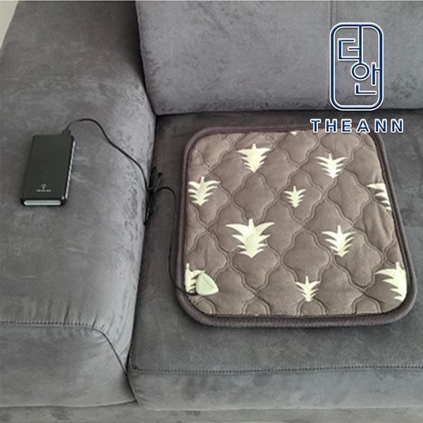 캠핑용 USB방석  차콜그레이 45x45cm