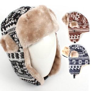 기모 디자인 방한모자 털모자 니트모자 겨울모자