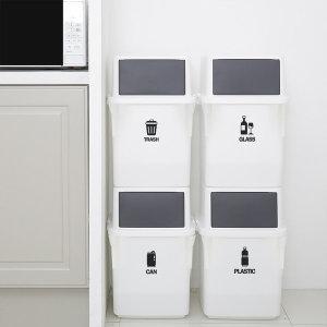 컬러빈 가정용 재활용 분리수거함 35L 4단 쓰레기통