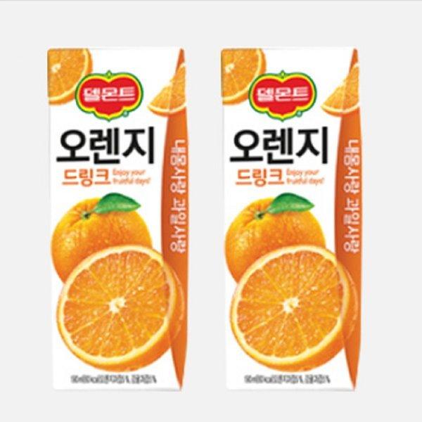 델몬트오렌지드링크팩24팩 오렌지주스 과즙음료