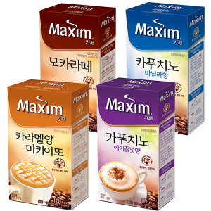 맥심 카페 카푸치노 10T/바닐라/헤이즐넛/모카/카라멜
