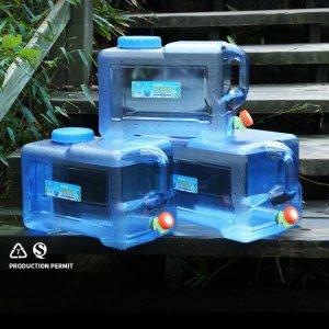대용량 물통 수도꼭지 대용량 생수통 야외캠핑용 25L