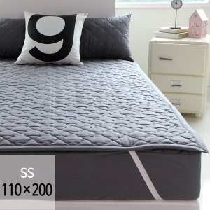 (바숨) 순면누빔 고정밴딩 침대패드 슈퍼싱글(SS) 110x200 사이즈