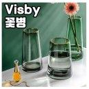 Visby 유리꽃병 회색 8x22