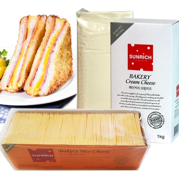 썬리취 베이커리슬라이스치즈100매/크림치즈1kg