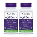 2개 NATROL 아사이베리 분말 가루 1000 mg 75 베지 캡슐