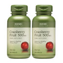 2개 GNC 크랜베리 Cranberry 크렌베리 500 mg 100 캡슐