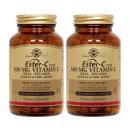 2개 Solgar 에스터 C 플러스 비타민C 500 mg 100 베지 캡슐