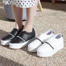 여성 슬립온 스니커즈 여성단화 단화 신발 통굽 레이스