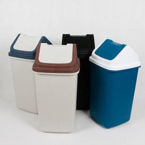 사각자동 휴지통(50L)DD 학교 분리수거 식당 쓰레기통