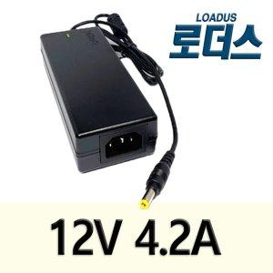 12V 4.2A/5A 60W 국산어댑터 SW60-12005000-WA호환