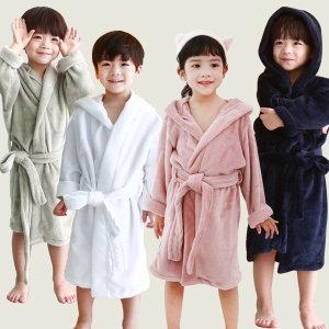 아동 극세사 샤워가운 4종 목욕타올