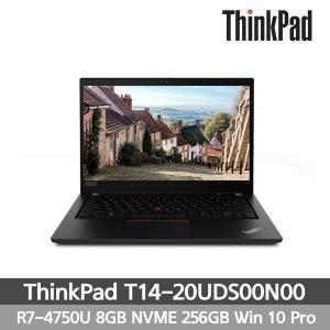 T14-20UDS00N00 레노버 노트북 R7 8GB NVMe256GB WIN10